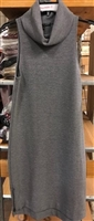 Famous Brand ladies sleeveless grey mock dress.