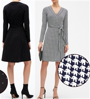 Famous Brand ladies long sleeve wrap dress.