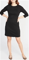Famous Brand ladies classic Ponte knit sheath dress.