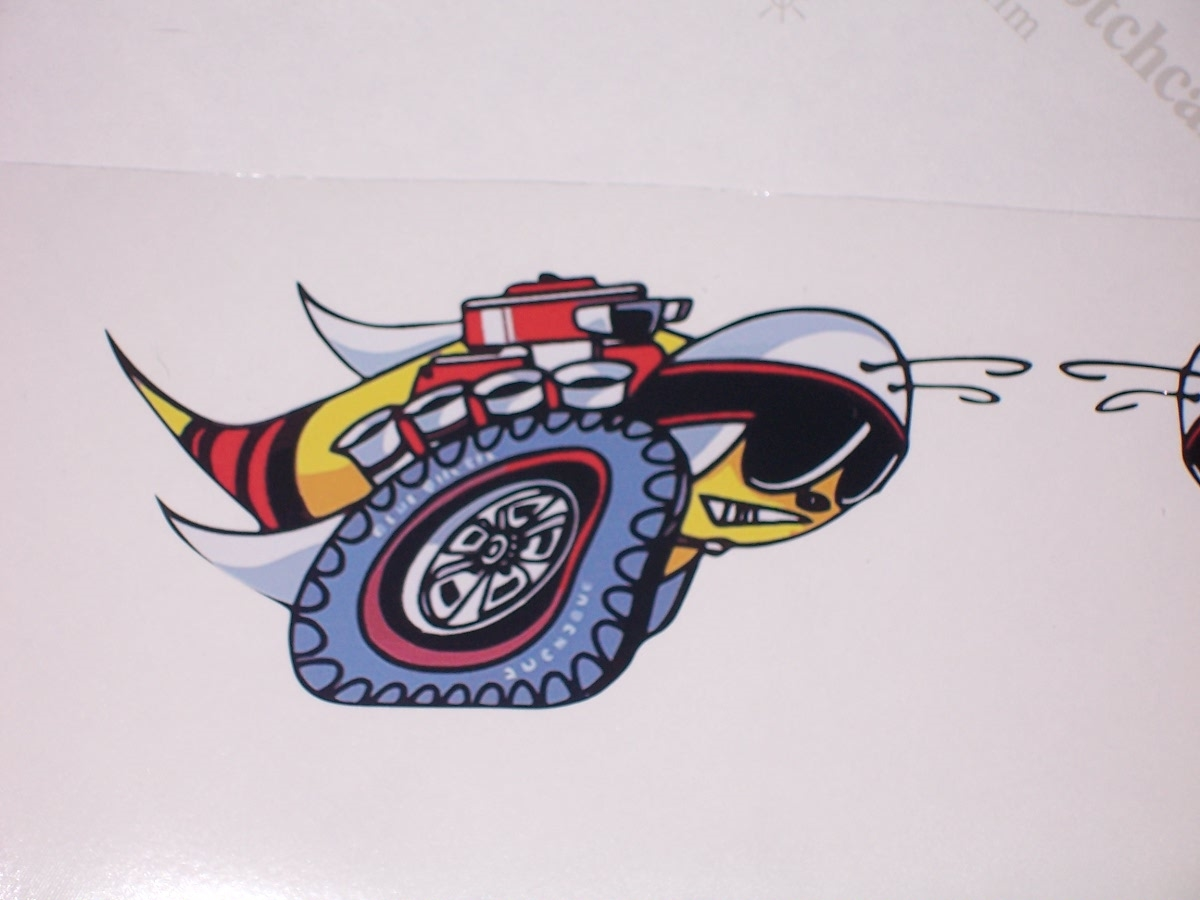 Full color printed vintage scat pack rumble bee decals made of high quality 3m graphic vinyl film