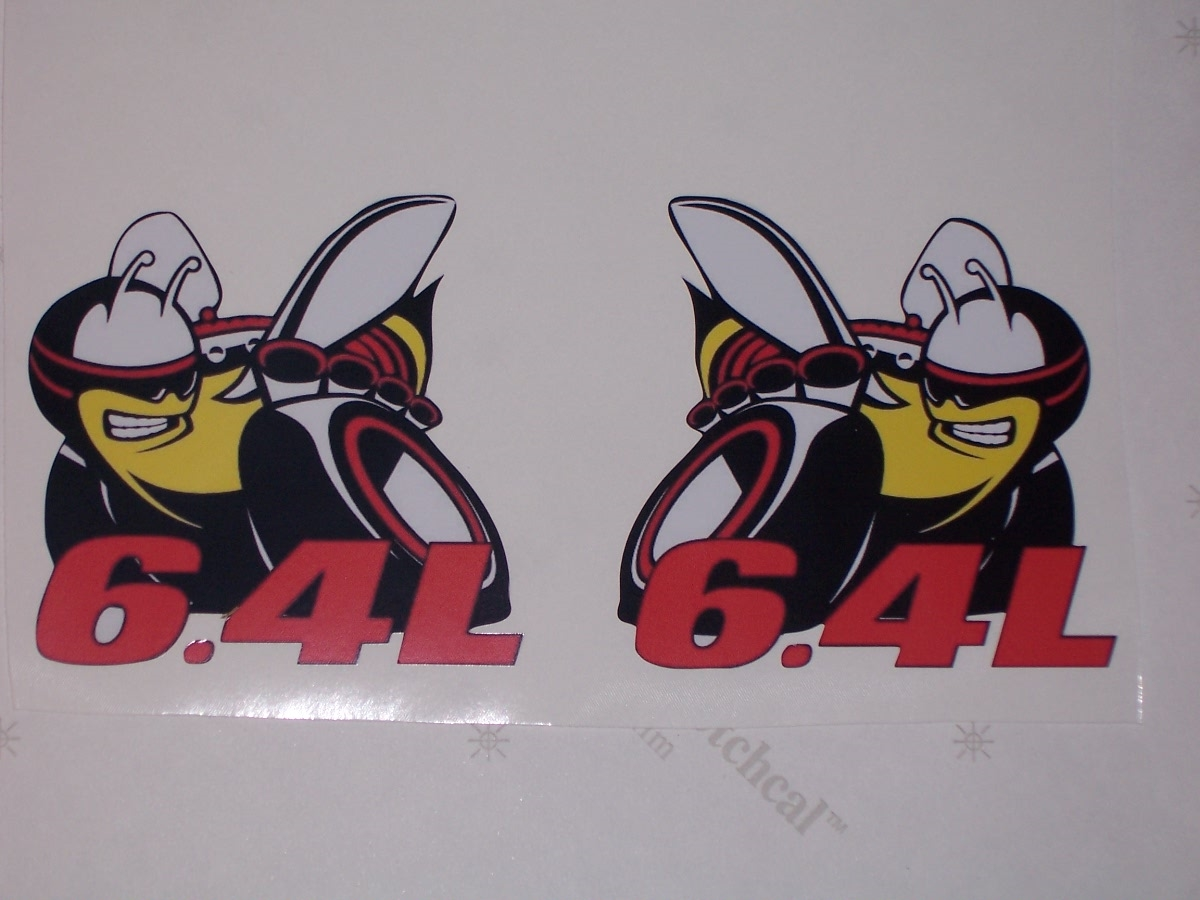 Full color printed scat pack 6 4l rumble bee decals made of high quality 3m graphic