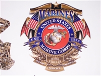 United States Marines Full color Graphic Window Decal Sticker