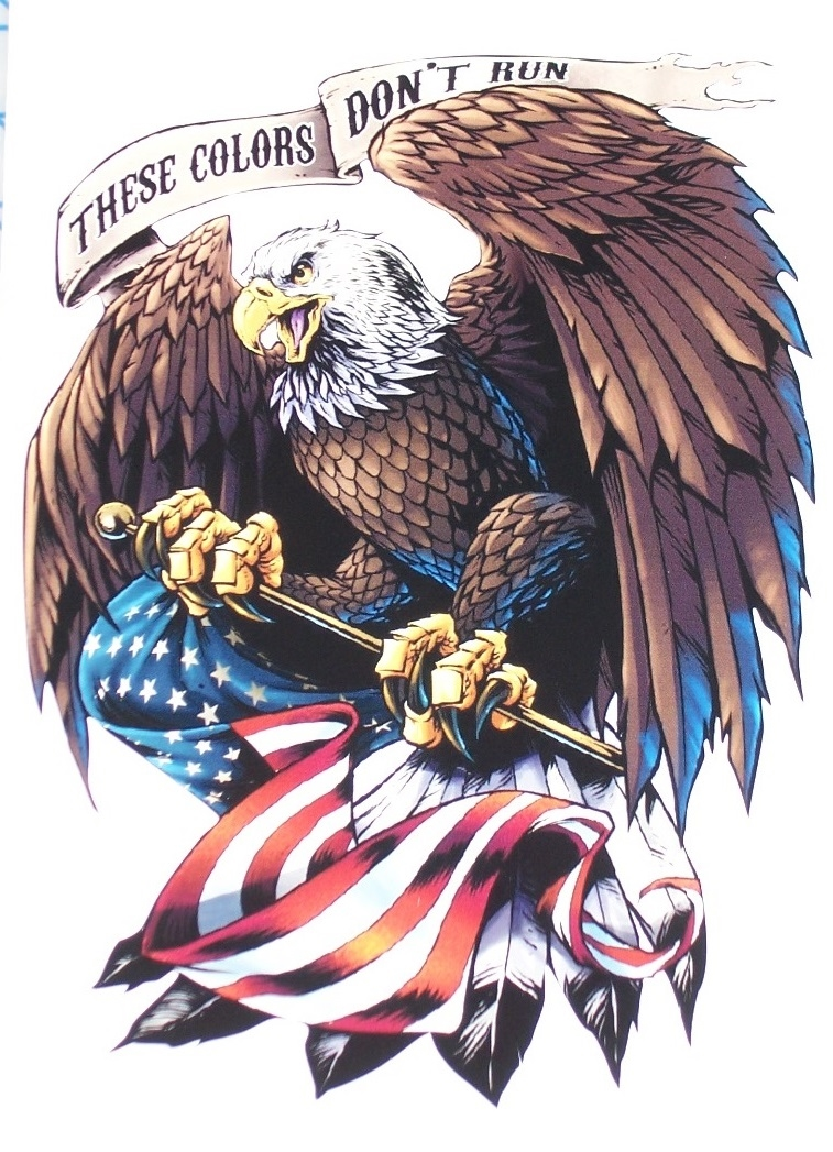 These Colors Don T Run 2 American Flag Eagle Home Of Free Full