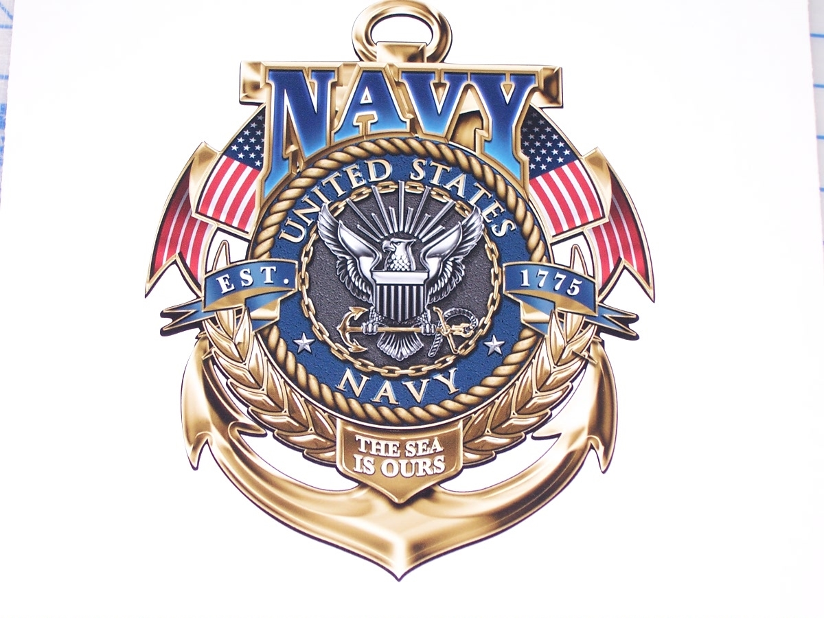 United States Navy Anchor Full Color Graphic Window Decal