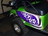 Green EZGO w/ Golf Cart Beach Croozer HOOD & Side Graphics