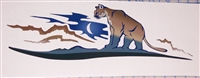 Brown Cougar window hood rv motorhome or Boat Decal