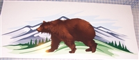 BROWN BEAR Brown Cougar window hood rv motorhome or Boat Decal