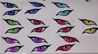 Evil Eye's #2 No Fear Full color Window Decal Available in 7 colors