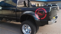 Black Ford Truck w/ Metal Militia Skull Circle Window 22X22