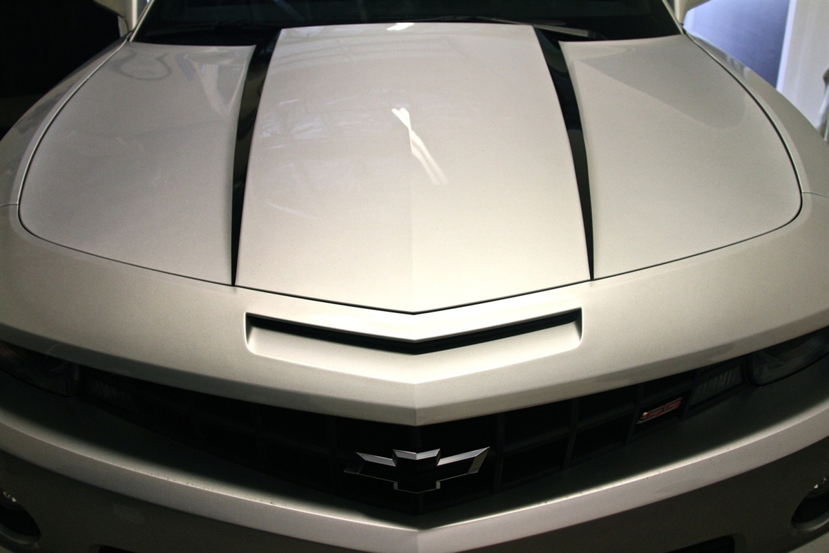 2010 2013 Camaro Hood Cowl Spear Stripe Decals