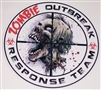 "8"" X 8"" Zombie Outbreak Response Team #1 Vinyl Decal Sticker"