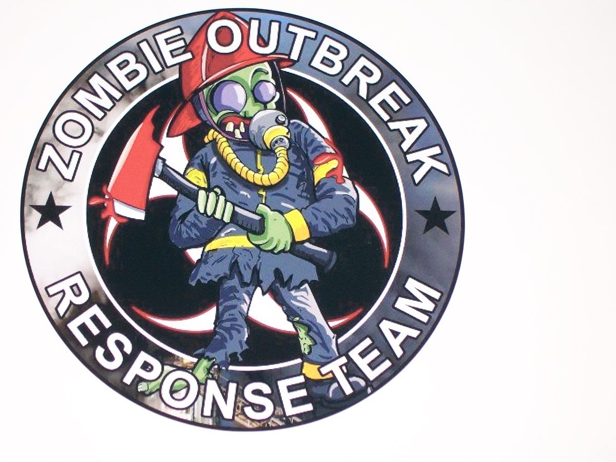 "8"" X 8"" Zombie Outbreak Response Team #2 Vinyl Decal Sticker"