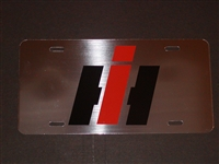 IH International Logo Vanity License Plate STAINLESS STEAL