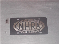 NHRA DRAG RACING License Vanity Plate Black with Chrome logo