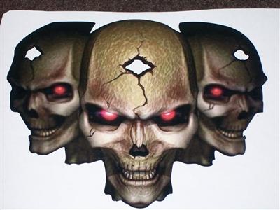 Skull dragon Tribal Hood Decal vinyl large Graphic Car Truck Semi trailer v3