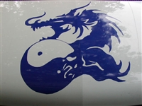 Dragon Yin Yang Hood Decal