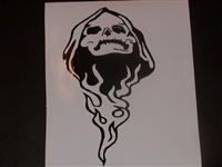 Skull Flames #2 Hood Decal