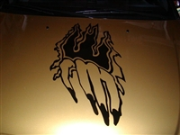 Hand Claw Ripping Hood graphic Decal