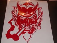 Devil Smile Old School Hot Rod Hood Graphic