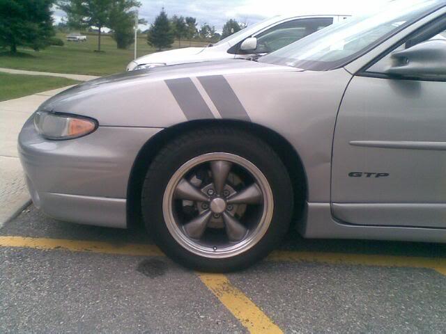 Pontiac grand prix grand sport hash mark fender stripes