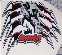 "Arctic Cat Claws Ripping 10""x12"" Decal"