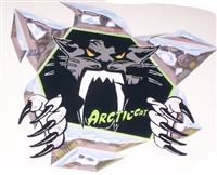 "Arctic Cat Rip Threw 6"" x6"" Decal"