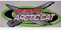 "TEAM X Arctic Cat 9""x4.5"" Decal"