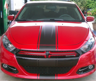 "2012-2018  Dodge DART 10"" center Rally Stripe set"