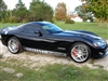 Black Dodge Viper w/ silver Rocker Stripe