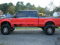 Ford Truck w/ Black Rocker Flames