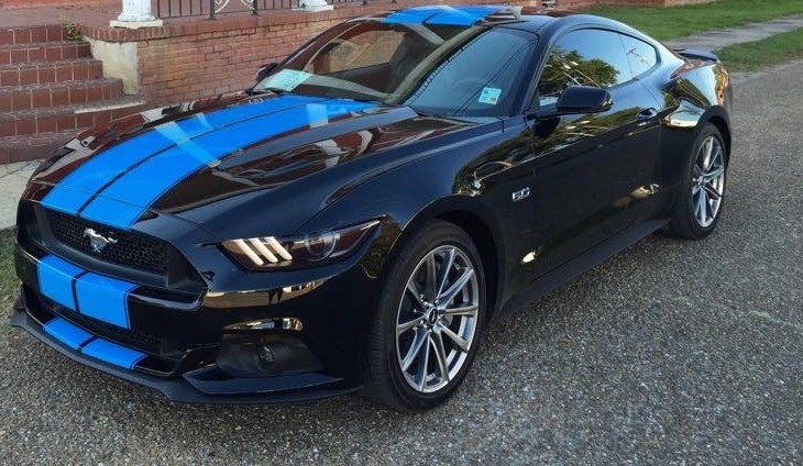 "Mustang Decals And Stripes >> 2015 2016 2017 2018 Mustang 10"" Twin Rally Stripes"