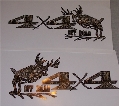 Big Buck Real tree M4 Camo 4X4 OFF ROAD Decal