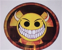 Bio Evil Smiley Smile Full color Decal