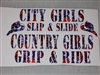 City girls Slip and Slide Decal