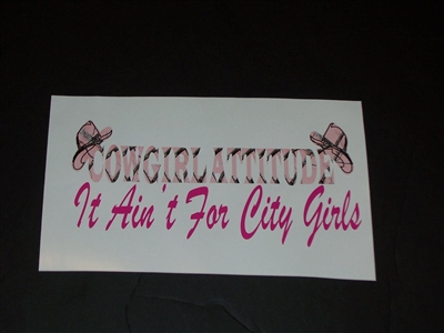 "COWGIRL ATTITUDE ""It aint for city Girls""  Decal"
