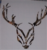 DEER Head #1 PRINTED FULL COLOR Window Decal