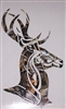 DEER Head #2 PRINTED FULL COLOR Window Decal