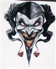 "Evil Clown / Jester Skull 6"" x 8.5"" Decal"