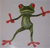 "Green Peace Tree Frog 9"" x 11"" Decal"