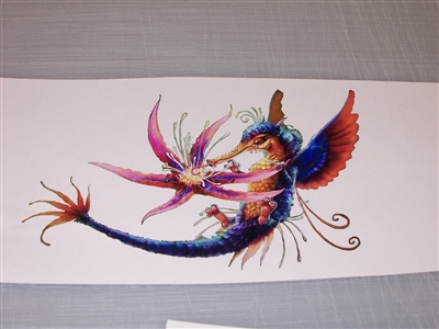 Humming Bird Flower Decal