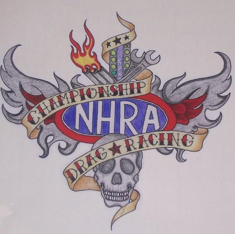Nhra Drag Racing Tattoo 95x85 Decal