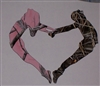 Pink Camo Girl & Camo Boy Gymnastics Decal