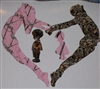 Pink Camo Mom Girl & Camo Dad Boy Gymnastics Decal
