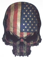 American Skull w/ Stars & Stripes Decal