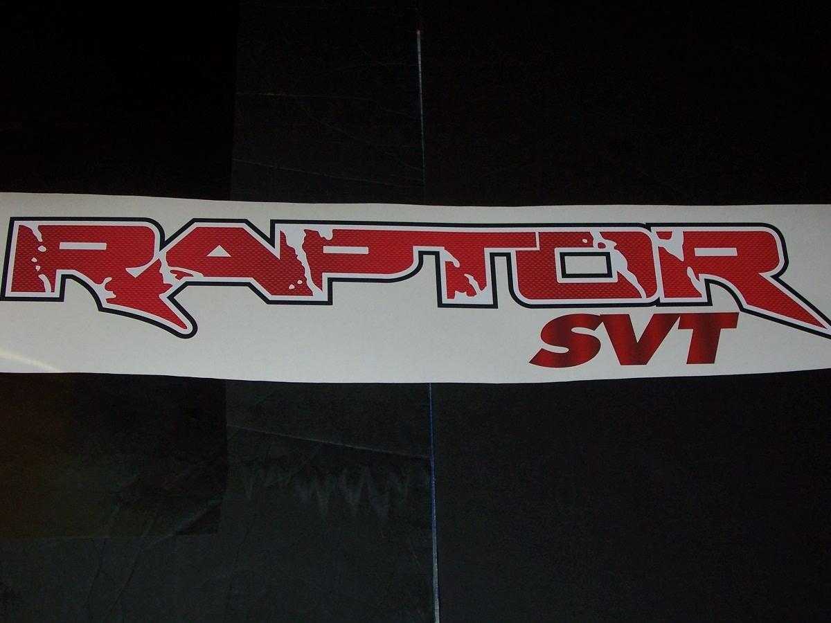 Raptor Svt Full Color Graphic Window Decal Sticker [ 900 x 1200 Pixel ]