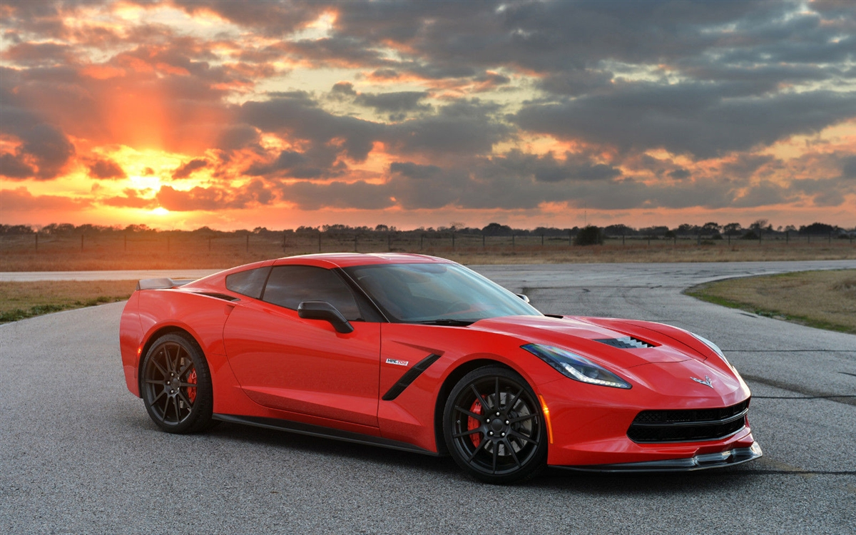 2014 2015 Red Corvette Stingray Wall Trailer Graphic Decal
