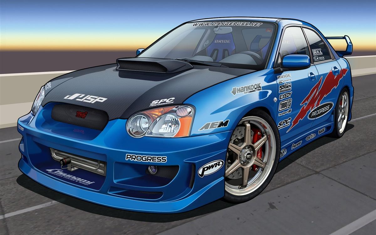 Subaru Wrx Sti Rally Race Car Wall Trailer Graphic Decal