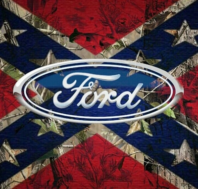Full Color Ford Confederate Rebel Flag Wall Trailer