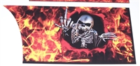 Finger Skull Flame Rear Panel