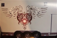HD tribal Heart Decal